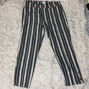 NWT Plus Size Striped Ankle Pants!